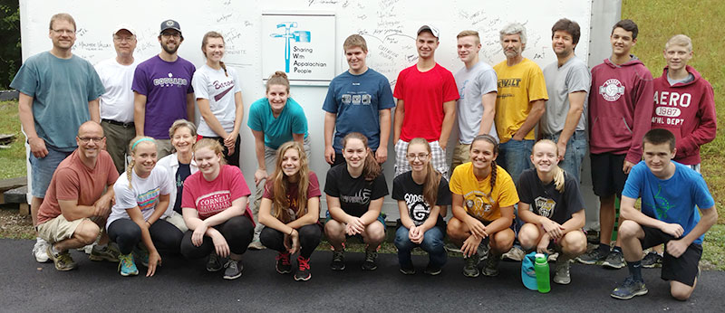 Youth Group serving with SWAP